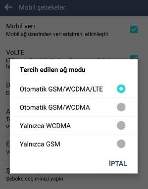 Android 4.5G Nasıl Açılır Kapatılır?