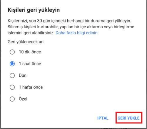 Android Telefonda Silinen Numarayı Geri Getirme