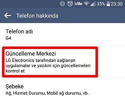 LG Android Telefonda Güncelleme Nasıl Yapılır?