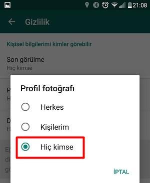 Whatsapp Profil Fotoğrafı Nasıl Gizlenir?