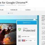 ZenMate VPN Mozilla, Opera ve Chrome Eklentisi